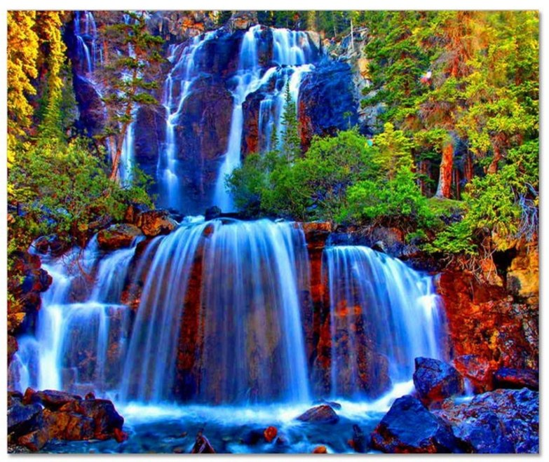 Алмазная вышивка природа водопады 34