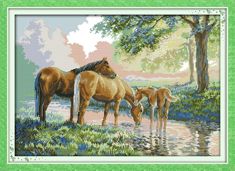 """""""Лошади на водопое"""" (фото"""