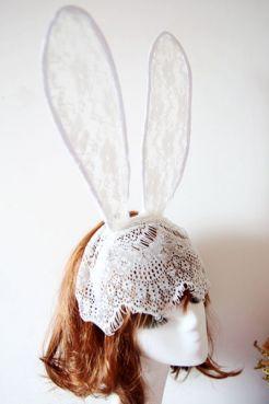 """Ушки """"Белый кролик"""""""