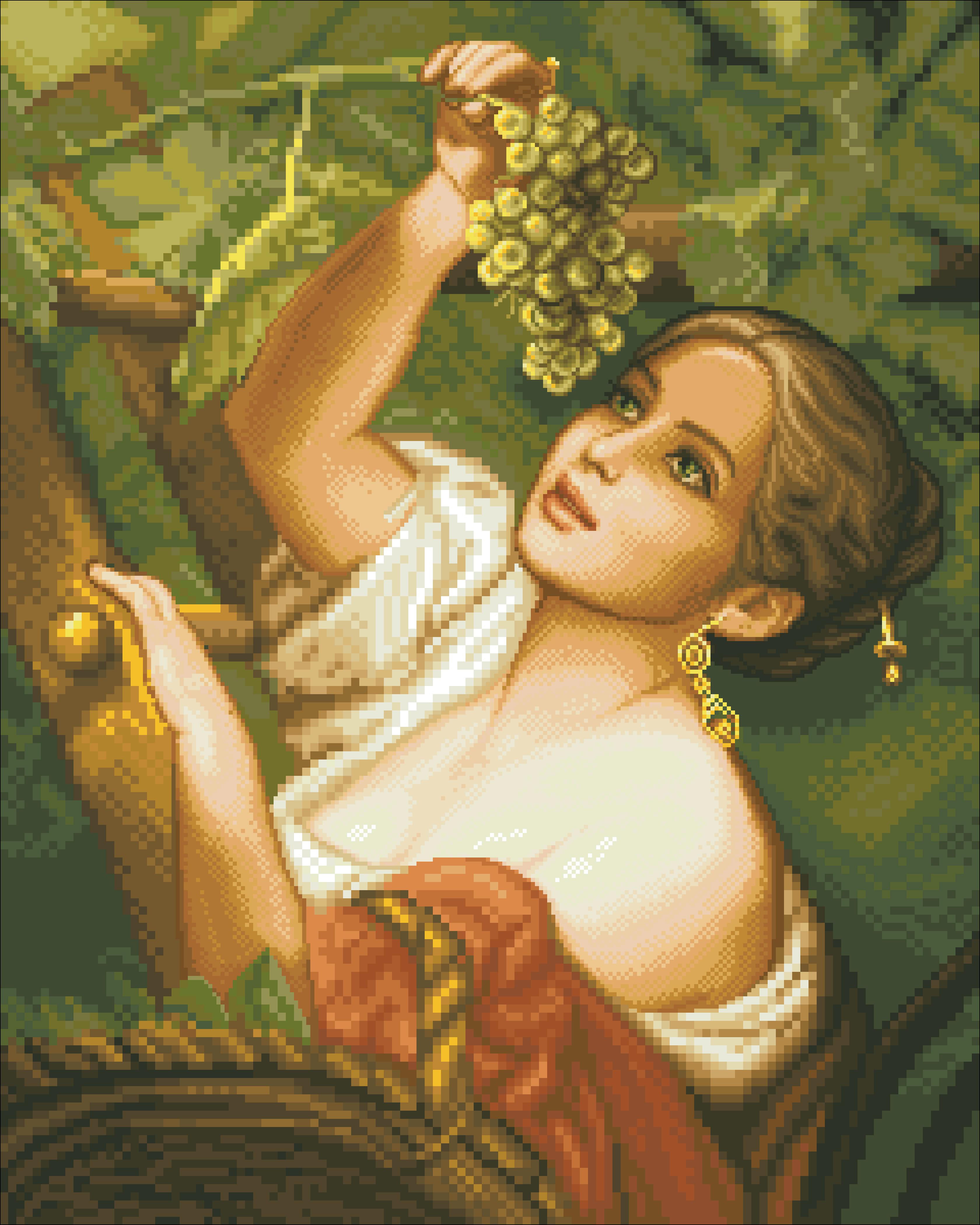 девушка и виноград картина Новгород Россия, Нижегородская